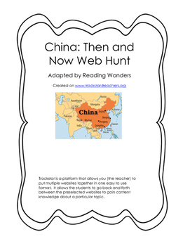 China: Then and Now Web Hunt