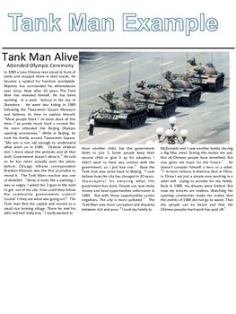 China Tiananmen Square Protest - The Tank Man
