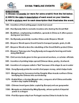 China Timeline - Mini Project