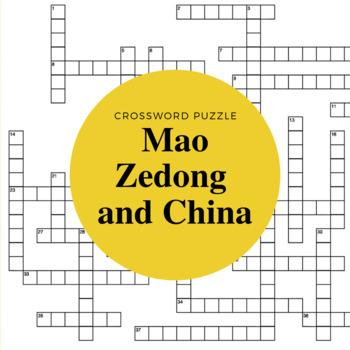 China Under Mao Zedong Crossword Puzzle