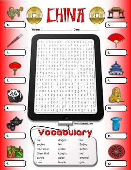 China Vocabulary Identify Activity