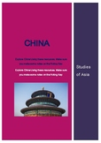 China - Webquest. Studies of Asia