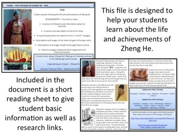 The Voyages of Zheng He - Homework