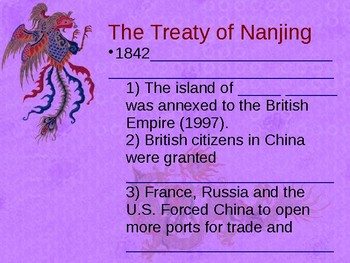 China and The New Imperialism**STUDENT OUTLINE**