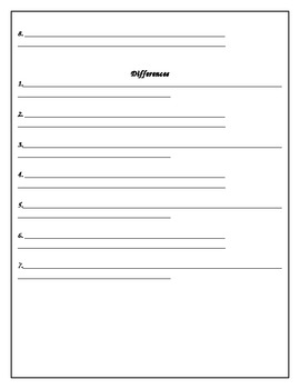 China compare and contrast worksheet