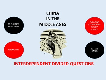 China in the Middle Ages: Interdependent Divided Questions Activity