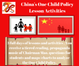 China's One Child Policy Lesson Activities