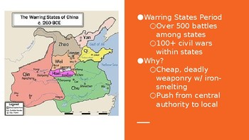 China's Warring States & Qin Dynasty PPT