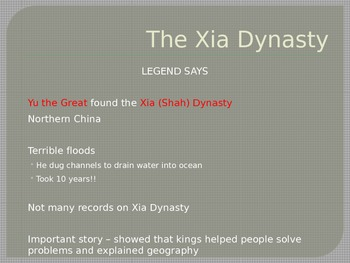 China's First Dynasties PowerPoint - Xia and Shang