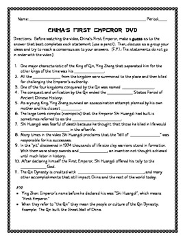 China's First Emperor DVD Cloze (Shi Huangdi)