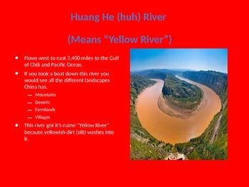 2nd Grade China's Rivers - Based on Core Knowledge Curriculum