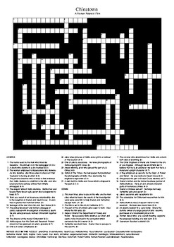 Chinatown (1974 Film)  Review Crossword Puzzle