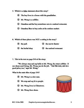 Chinatown ~ Reading Comprehension and Vocabulary Test/Quiz