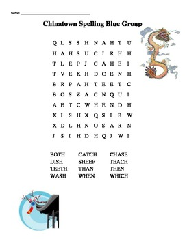 Chinatown Spelling Word Work