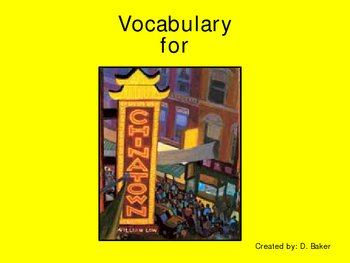 Chinatown Vocabulary Houghton Mifflin Series