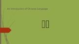 Chinese 101 Intro.