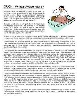 Chinese Acupuncture Reading Comprehension