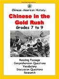 Chinese-American History: Chinese in the Gold Rush