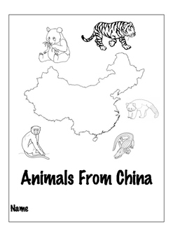 Chinese Animal Coloring