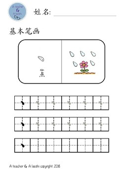 Chinese Basic Strokes for K1