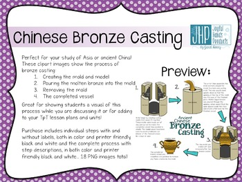 Chinese Bronze Casting Clipart