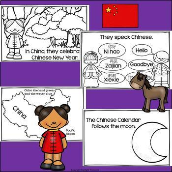 Chinese Calendar Mini Book for Early Readers: Chinese New Year
