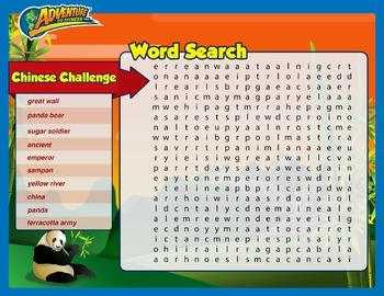 Chinese Challenge Word Search