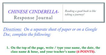 Chinese Cinderlella response journal