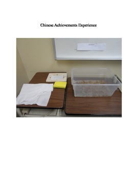 Ancient China Achievements Hands On Activity