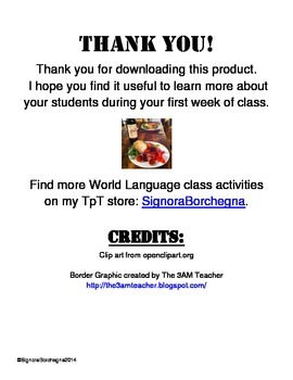 Chinese Class First Day Student Survey