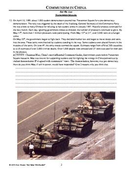 Chinese Communism Worksheet - Standalone Lesson