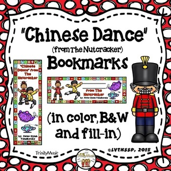 Chinese Dance (from The Nutcracker) Bookmarks