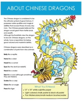 chinese dragon art lesson by deep space sparkle tpt