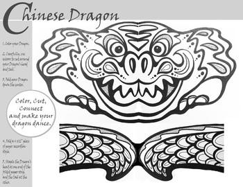 Chinese Dragon Dance Coloring Worksheet