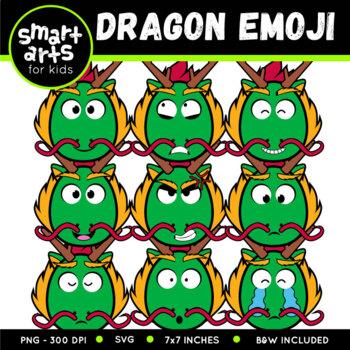 Chinese Dragon Emoji Clip Art