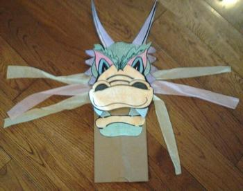 Chinese Dragon Paper Bag Puppet