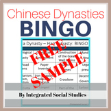 Chinese Dynasties BINGO Free Sample