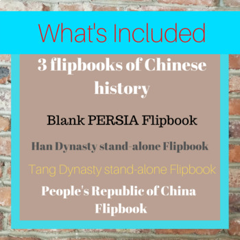 Chinese Dynasties Flip Books
