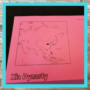 Chinese Dynasties Flip Books WITH MAPS