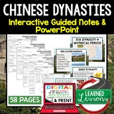 Chinese Dynasties Guided Notes and PowerPoints, Interactive Notebooks, Google