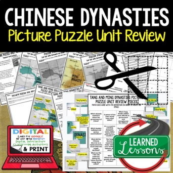 Chinese Dynasties Ming & Tang Picture Puzzle Unit Review, Study Guide, Test Prep