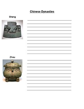 Chinese Dynasties Notes