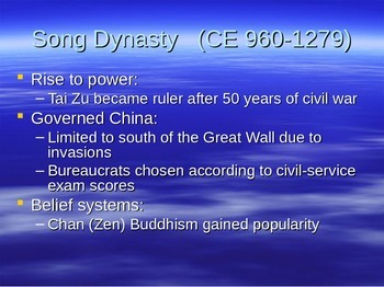 Chinese Dynasties PPT