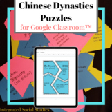 Chinese Dynasties Puzzles for Google Classroom™