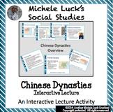 Chinese Dynasties Shang thru Han w/Confucius and Silk Road Interactive Notes