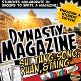 Chinese Dynasty Magazine Project Activity Sui, Tang, Song, Yaun, Ming