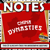Chinese Dynasty Sui, Tang, Yuan, Song, Ming PowerPoint Notes