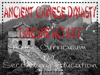 Chinese Dynasty Timeline Assignment