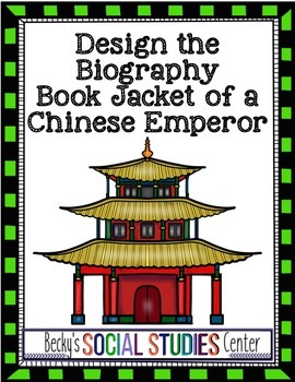Chinese Emperor Activity / Project - Design the Biography Book Jacket