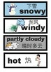 Chinese/English Binlingual Calendar + Weather cards